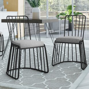 Dasilva Upholstered Dining Chair (Set of 2) Wrought Studio