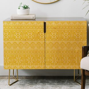 Heather Dutton Grand Bazaar Goldenrod Credenza East Urban Home