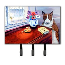 Bull Terrier Leash Holder and Key Hook by Caroline's Treasures