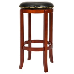Abby 24 Swivel Bar Stool Charlton Home