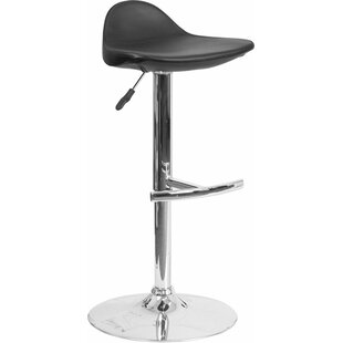 Whelan Low Back Adjustable Height Swivel Bar Stool