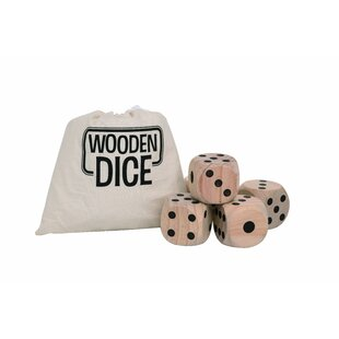 Cirencester 5 Piece Wood Spring Outdoor Dice Set with Bag by Freeport Park
