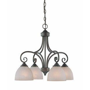 Fleur De Lis Living Ora 4-Light Shaded Chandelier