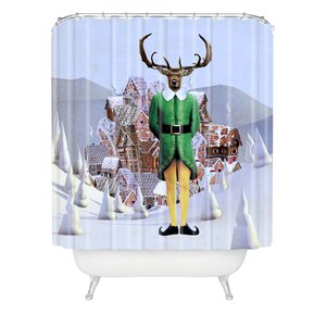 Natt Elfland Shower Curtain