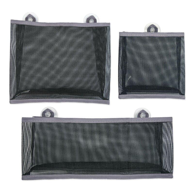 Design Imports 3 Piece Mesh Bathroom Organizer Bag Set Wayfair