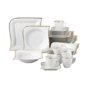Kittrell 30 Piece Porcelain Dinnerware Set Service For 6