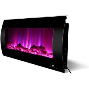 Curved Wall Mounted Electric Fireplace by Orren Ellis