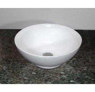 Rome Ceramic Circular Vessel Bathroom Sink Inello