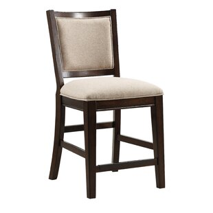 Darnell Square Back Upholstered 24 Bar Stool by Charlton Home