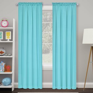 Cantor Solid Semi-Sheer Rod pocket Curtain Panels (Set of 2)