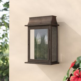 Three Posts Logan 2-Light Outdoor Flush Mount
