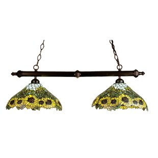 Meyda Tiffany Tiffany Wild Sunflower 2-Light Pool Table Light