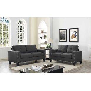 Payson 2 Piece Linen Living Room Set