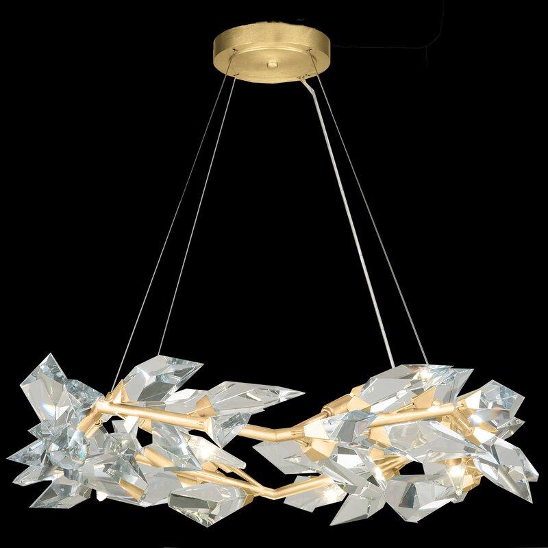Fine Art Lamps Foret 8 Light Unique Geometric Chandelier With Rope Accents Wayfair