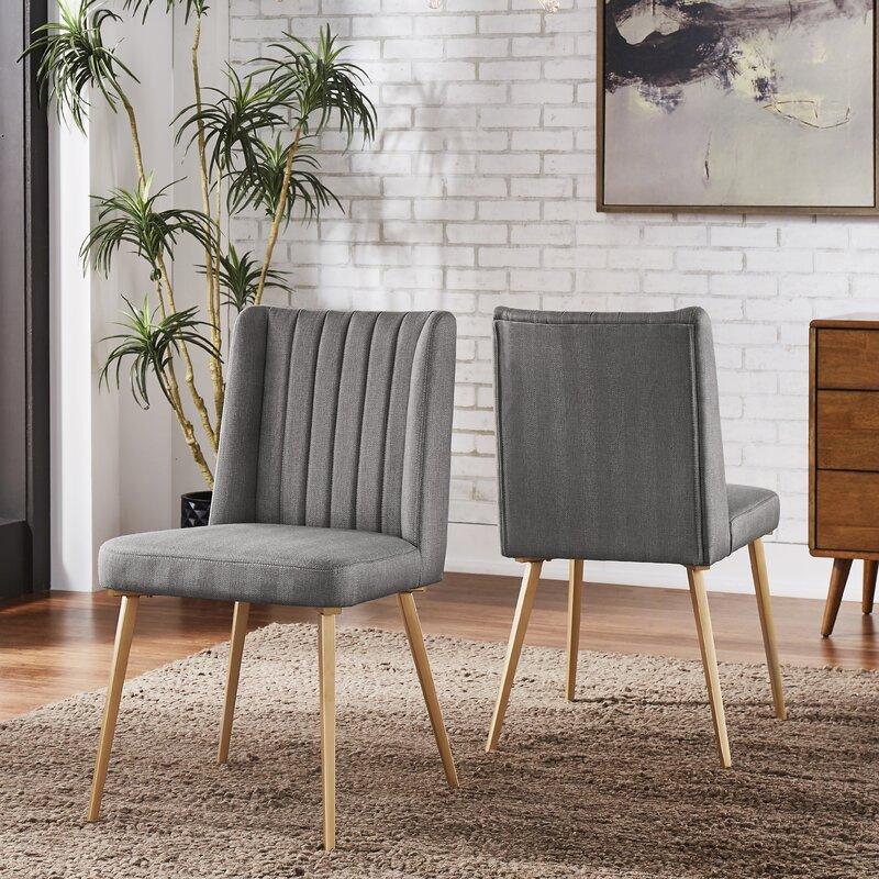 Mercer41 Enzo Upholstered Wingback Side Chair (Set of 2)