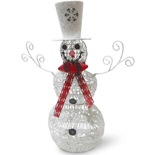 metal snowman christmas decoration - Metal Christmas Decorations