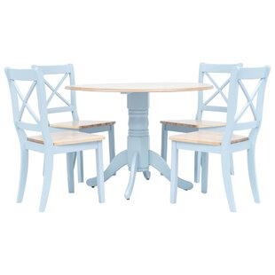 Earline Dining Set With 4 Chairs By Brambly Cottage