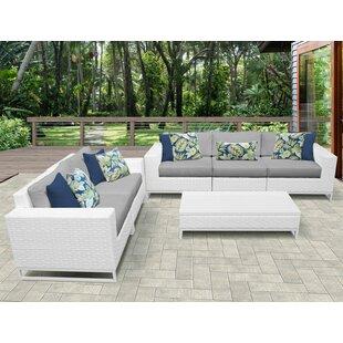 TK Classics Miami 6 Piece Sofa Set with Cushions