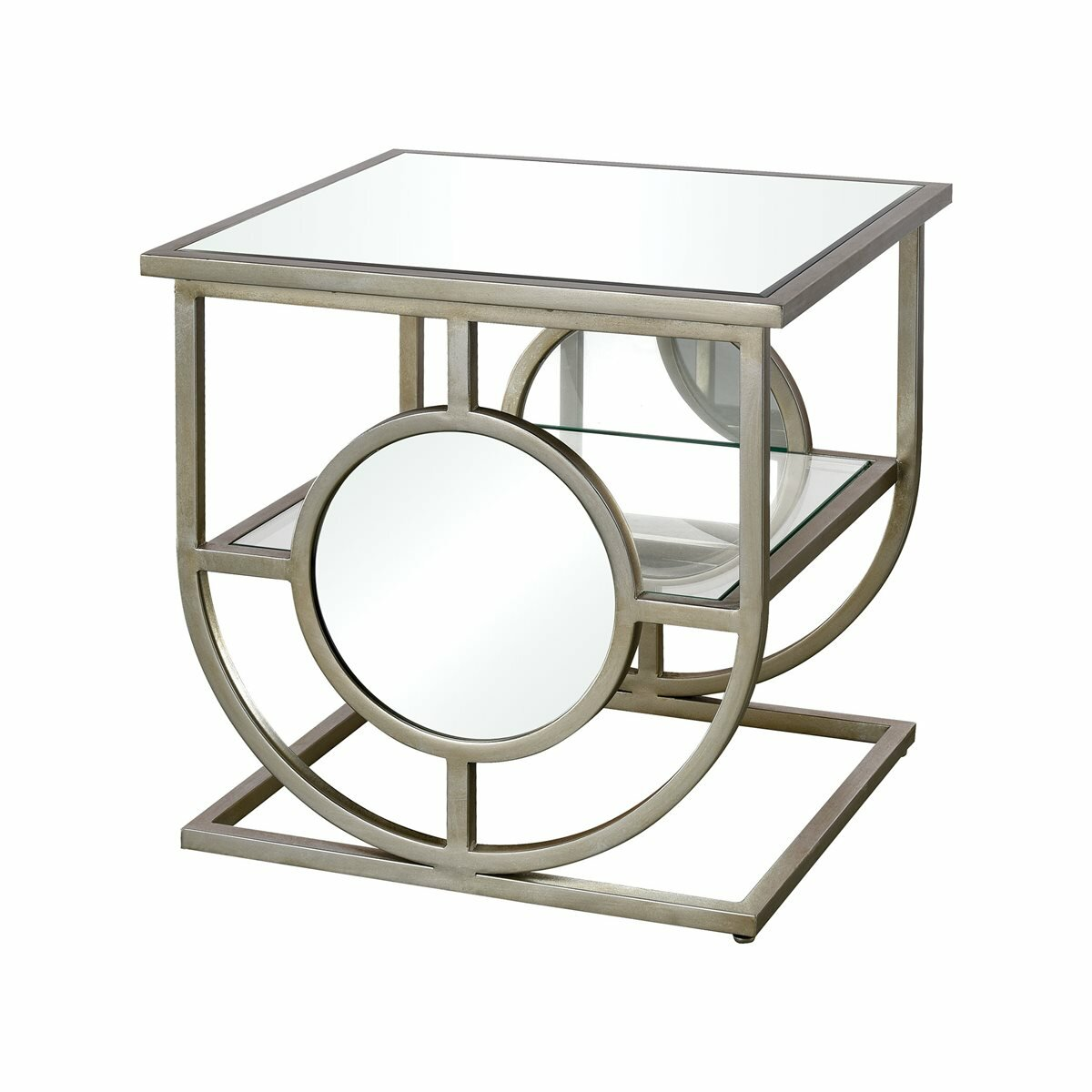 Decor Floor Shelf End Table With Storage Wayfair