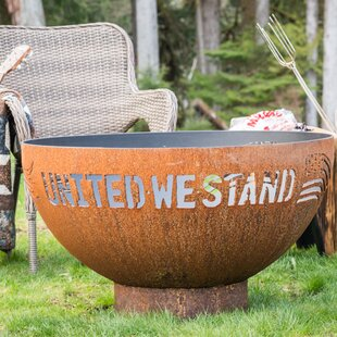 United We Stand Steel Fire Pit By Cedar Creek Sculptures