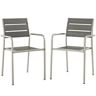 Orren Ellis Coline Patio Dining Chair (Set of 2)
