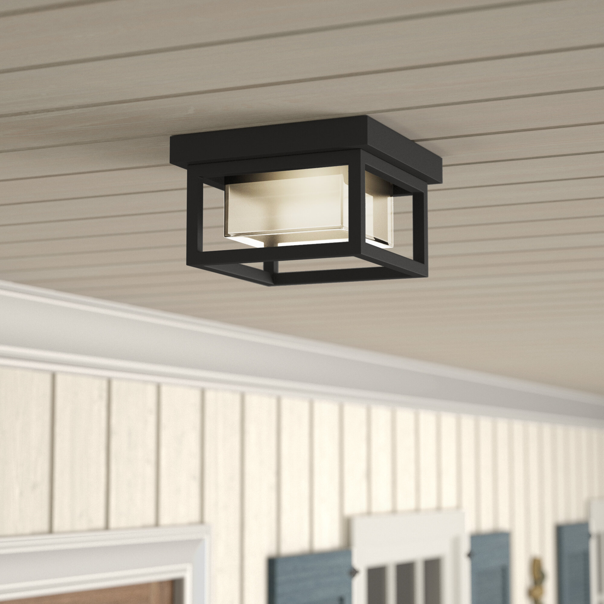 Longs Tides Tecca Led Outdoor Flush