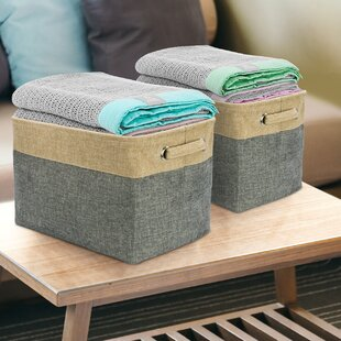 Twill Storage Fabric Cube or Bin (Set of 3) By Gracie Oaks