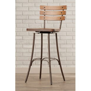 Shanta 29.5 Brown Swivel Bar Stool 17 Stories