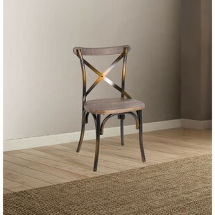 Highland Dunes Laurie Industrial Solid Wood Dining Chair