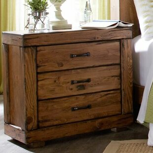 Loon Peak Hilton 3 Drawer Nightstand