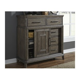 Reviews Grigg 5 Drawer Gentleman Chest by Gracie Oaks