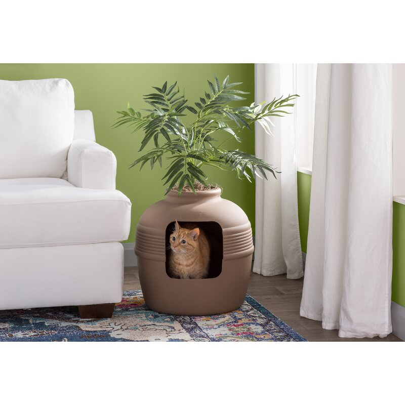 Archie Oscar Elijah Covered Hidden Cat Litter Box With Decorative Planter Reviews Wayfair