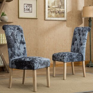 Chong Button Tufted Upholstered Dining Chair (Set of 2) by House of Hampton
