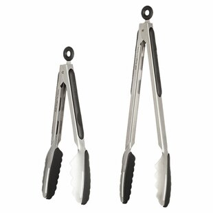 2 piece stainless steel kitchen tongs set - Kitchen Tongs