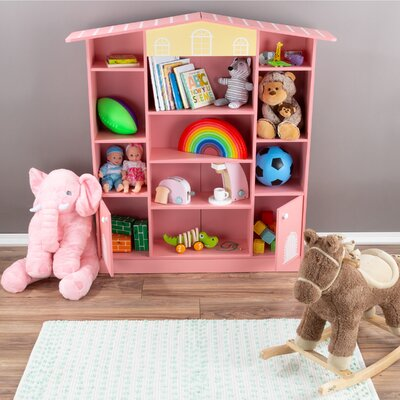 """Chang House-shaped 47"""" Bookcase Zoomie Kids"""