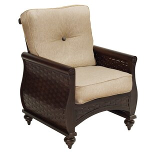 Leona French Quarter Patio Dining Chair with Cushion