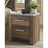 Tavares 2 Drawer Nightstand by Millwood Pines