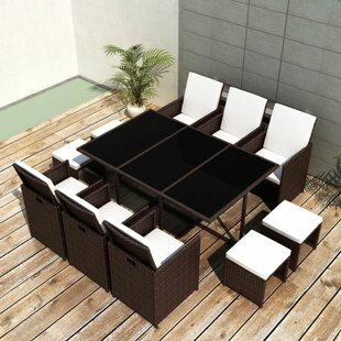 Isidore 10 Seater Dining Set With Cushions Image