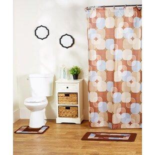 Rosella 15-Piece Shower Curtain Set ByEbern Designs
