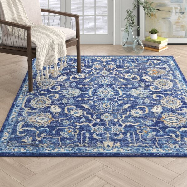 Chattahoochee Bohemian Navy Blue Area Rug by Joss & Main