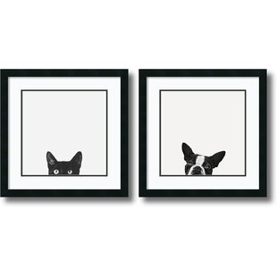 2 Piece Curiosity And Loyalty Framed Photographic Print Set