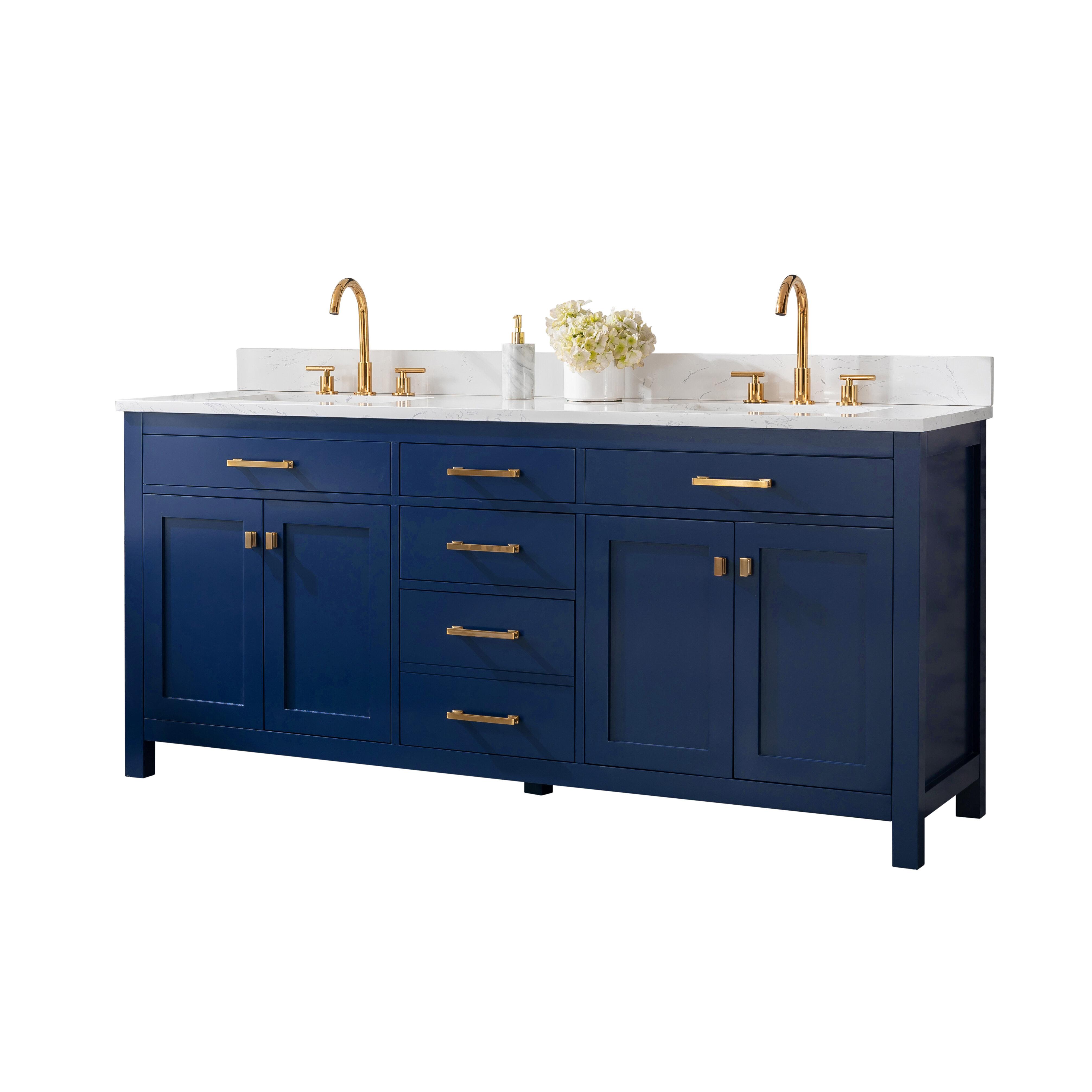 Mercury Row Atencio 72 Double Bathroom Vanity Set Reviews Wayfair