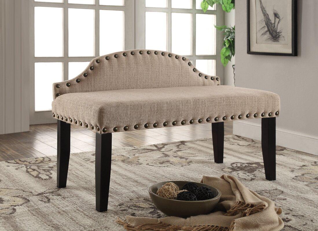 three posts millersburg upholstered bedroom bench  reviews  wayfair - defaultname