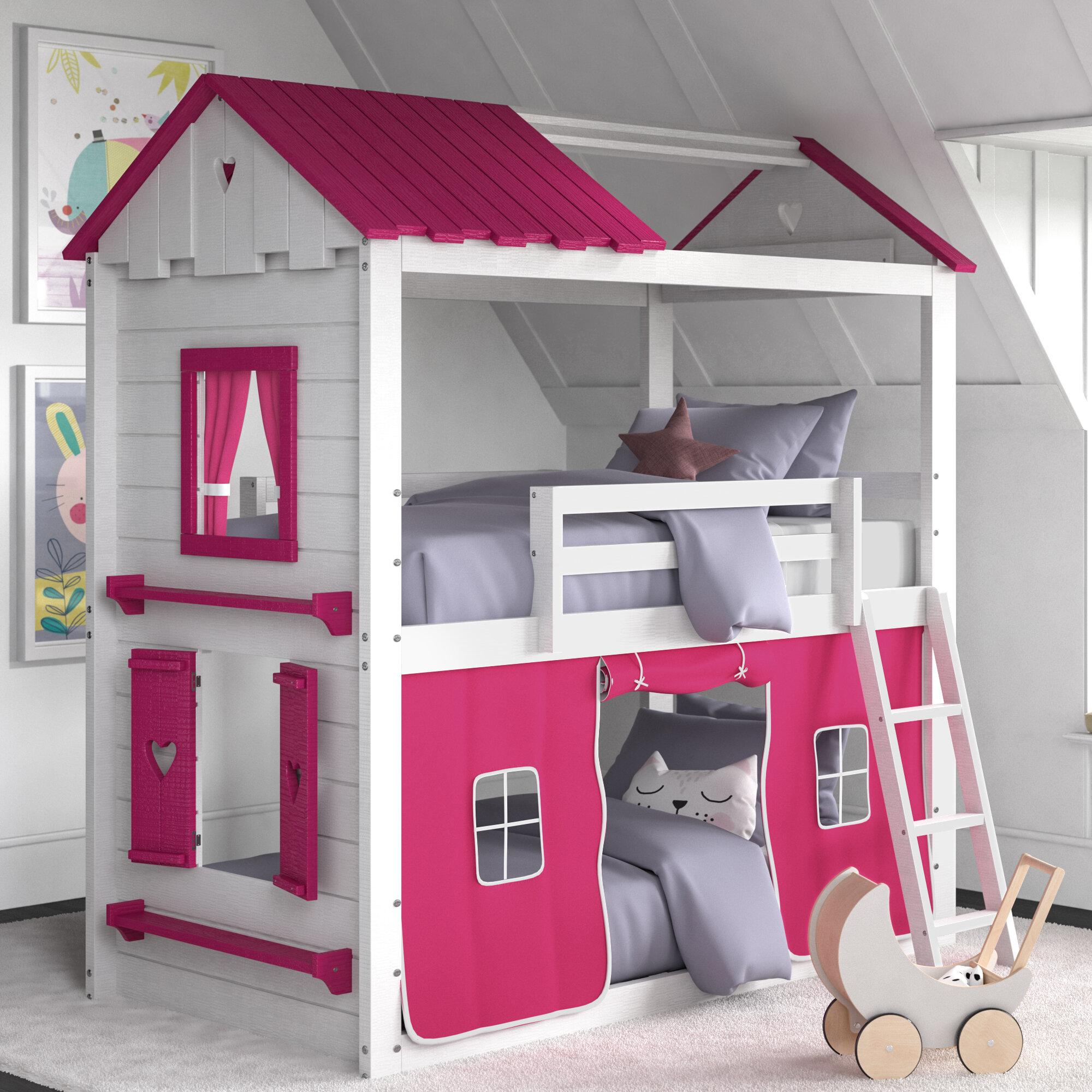 Picture of: Zoomie Kids Schoonmaker Twin Over Twin Bunk Bed Reviews