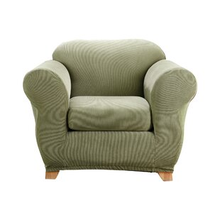 Stretch Madison Box Cushion Armchair Slipcover