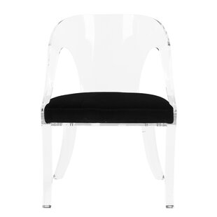Everly Quinn Annloraine Lucite Upholstered Dining Chair