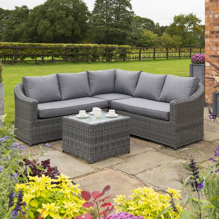 buy popular 841e8 78757 Waterton 5 Seater Rattan Corner Sofa Set