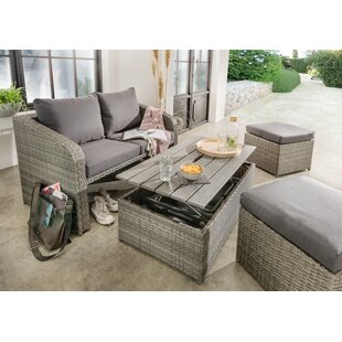 Cargile 4 Seater Rattan Effect Sofa Set With Cushions By Sol 72 Outdoor