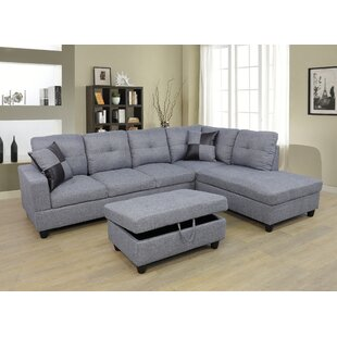 Ebern Designs Coke Sectional with Ottoman