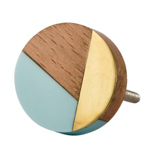 Wood, Resin & Metal Round Knob